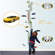 cars height sticker wall stickers for kids rooms boys growth chart stadiometer ruler AY7067