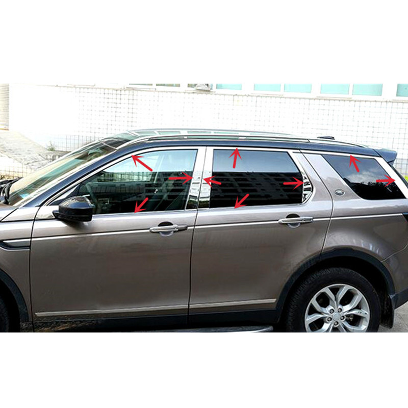 For Land Rover Discovery Sport 2015 2016 2017 Stainless Steel Full Window Sill Trim Cover Decoration Trim 22pcs Car Styling high quality stainless steel 20pcs full window frame b pillar trim cover for volkswagen tiguan 2008 2015