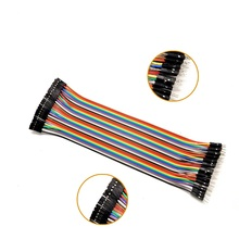Free Shipping 40pcs in Row Dupont Cable 20cm 2.54mm 1pin 1p-1p Female to Male jumper wire for Arduino