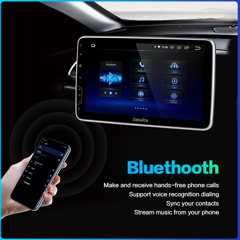 """Image 5 - Dasaita 10.2"""" IPS Screen Car Radio 2 Din Android 9.0 DSP Universal Car Auto Stereo Multimedia Bluetooth GPS Navigation HDMI MAX6-in Car Multimedia Player from Automobiles & Motorcycles"""