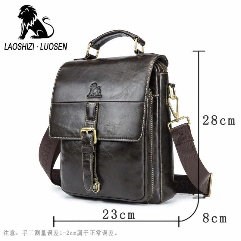 2019 New Fashion Cowhide Male Commercial Briefcase Real Leather Vintage Men's Messenger Bag Casual Natural Cowskin Business Bag