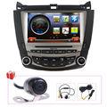 Car Satnav Radio DVD GPS Navigation Stereo Headunit For Honda Accord 2003-2007 Single zone/Dual zone with Free Rear Camera