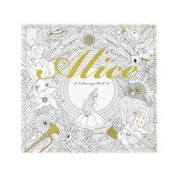 Alice Au Pays Des Merveilles Coloration Livre Secret Jardin Style Livre de Coloriage Soulager Le Stress Tuer Temps Graffiti Peinture Dessin Livre