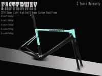 Celeste синий с черным FASTERWAY классический набор углеродных дорожных Рам UD ткань углерода велосипед рамки: комплект + подседельный вилка зажим г