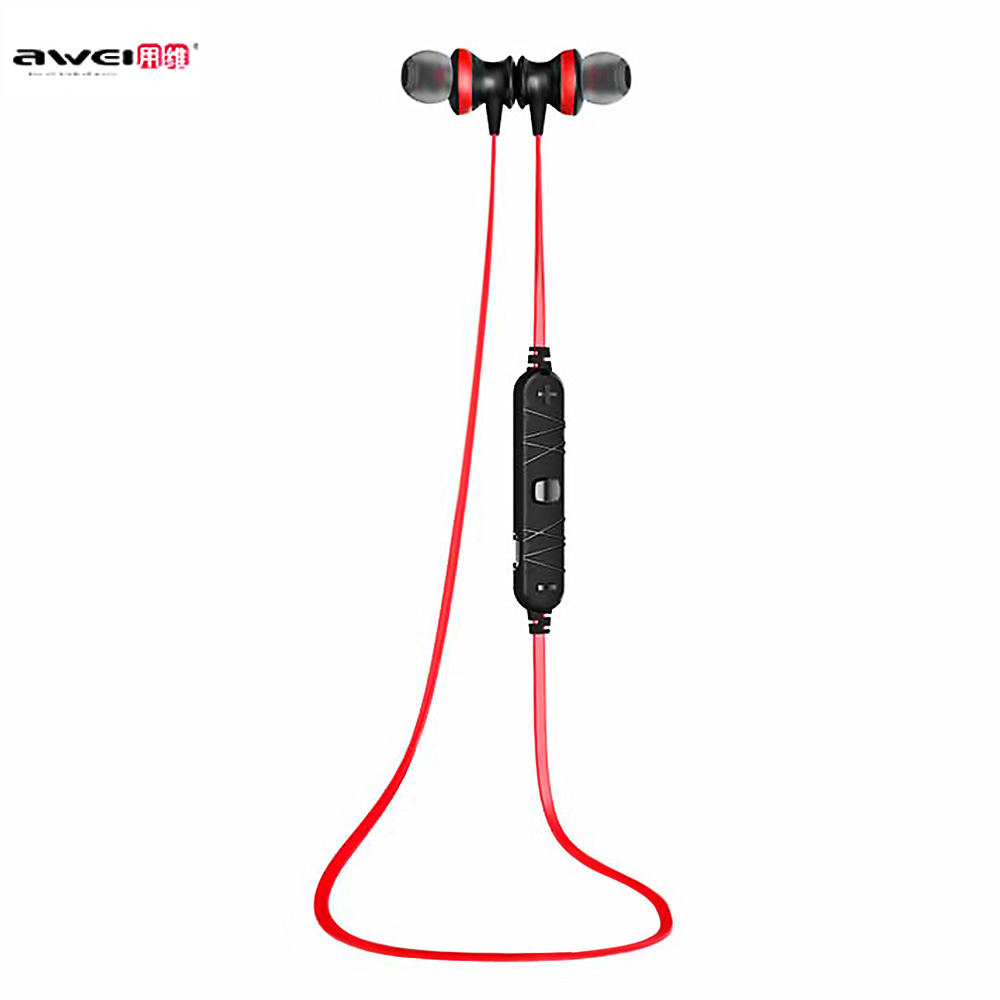 Awei A980BL Bluetooth 4.0 Wireless Earphone Sports Protable Earphones Handsfree Music In-ear Earphone with Mic for Mobile phone awei q5i in ear earphones with mic gold
