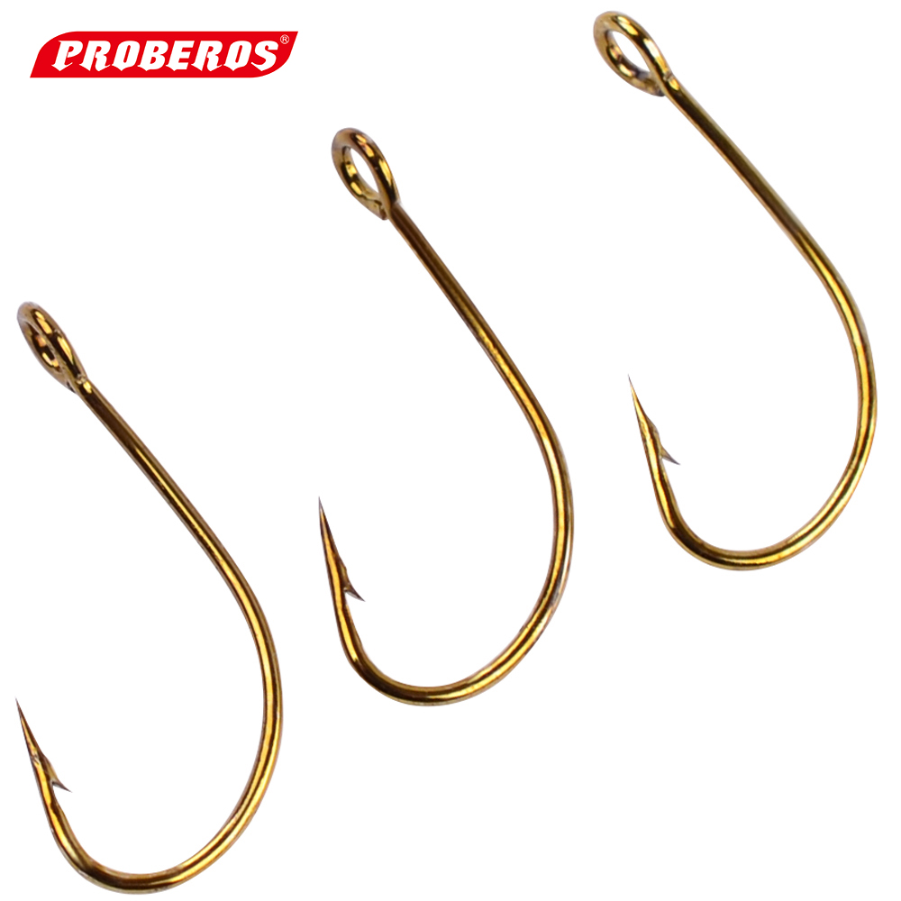 200pc barbed hook 72a material fishhook fly hooks fishing for Trout fishing hooks