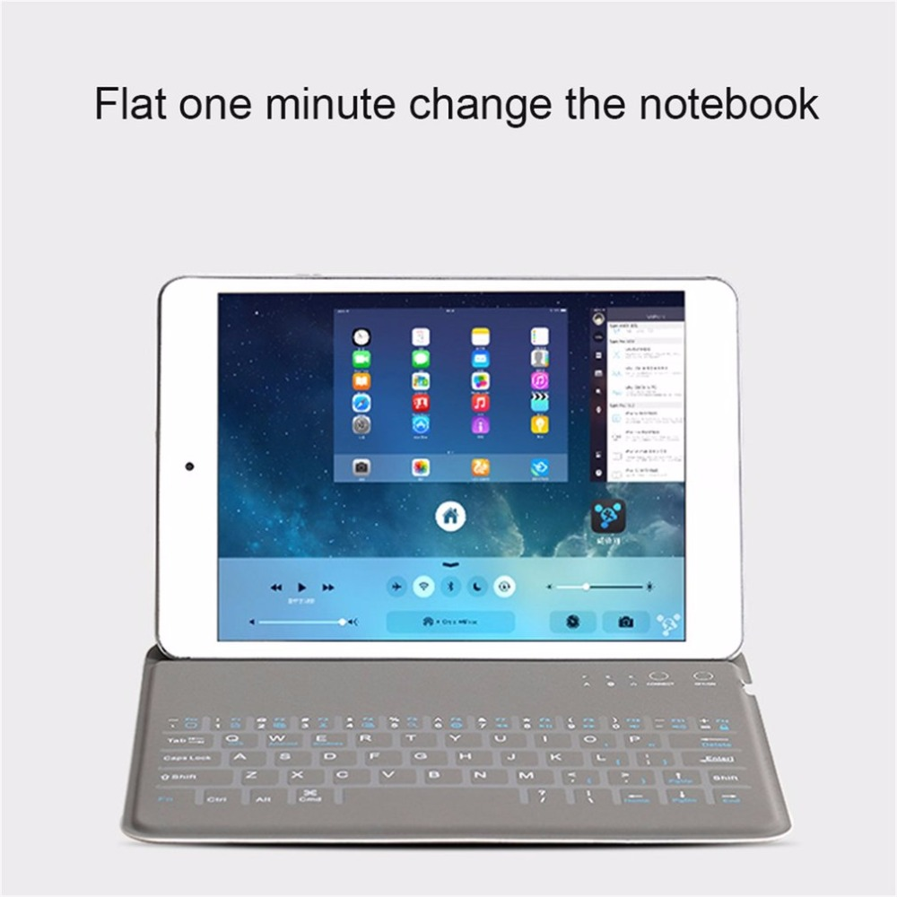 9.7″ Tablet Case Bluetooth 3.0 Keyboard Wireless Bluetooth Keyboard For iPad AIR/AIR2 Protective Sleeve Case Cover Universal