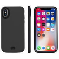 Support Wired Headset 5000mah Rechargeable Extended Battery Charger Protective Case Power Pack for Apple iPhone X Music 2in1