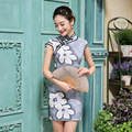 New Women Sexy Cheongsam Female Party Slim Evening Dress Chinese Traditional Dress Short Sleeve Summer Cheongsam Dress 18