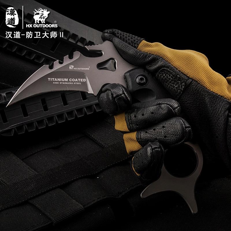 HX OUTDOORS CS go karambit gynybos meistras D2 Karambit peilis, - Rankiniai įrankiai - Nuotrauka 4