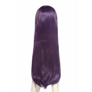 Image 4 - L email peruca para cosplay saenai heroine no sodateka utaha», peruca longa em roxo e cabelo sintético, para cosplay