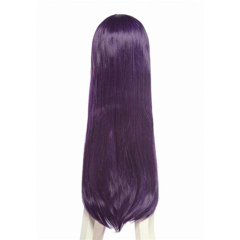 Image 4 - L email wig Saenai Heroine no Sodateka Utaha Kasumigaoka Cosplay Wigs Long Dark Purple Synthetic Hair Perucas Cosplay Wig    -
