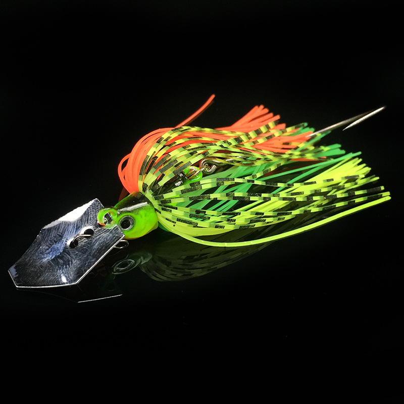 WATERBOY 7cm 10g Slicone Tail Chatterbait Vibrating Wobble Fishing Jig Lure-1