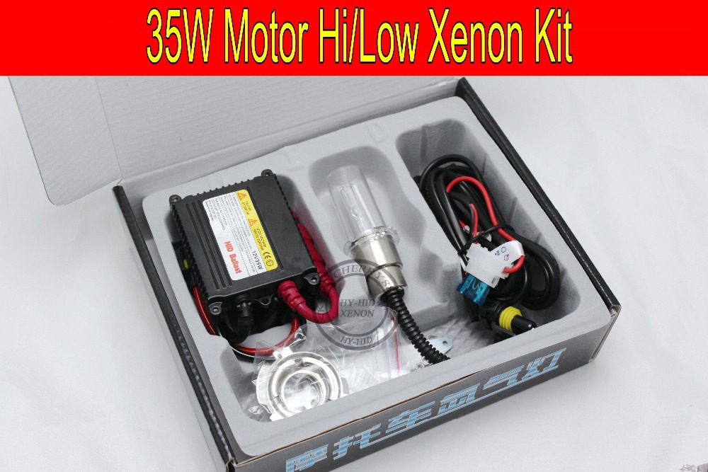 Free shipping 1 set 35W HID kit for Motor/Motorcycle Bike Bi-Xenon Kit Hi/Low Xenon Bulbs H6 Motor Kit with slim ballast h6 motorcycle motor hid xenon kit bi motorcycle hid headlight bulbs universal motorbike hid light ballast lamp 12v auto