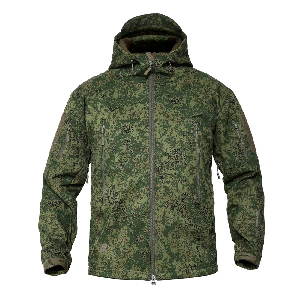 884f81d520e82 Shark Skin Soft Shell Tactical Military Jacket Men Waterproof Fleece Coat  Army Clothes Camouflage Windbreaker Jacket