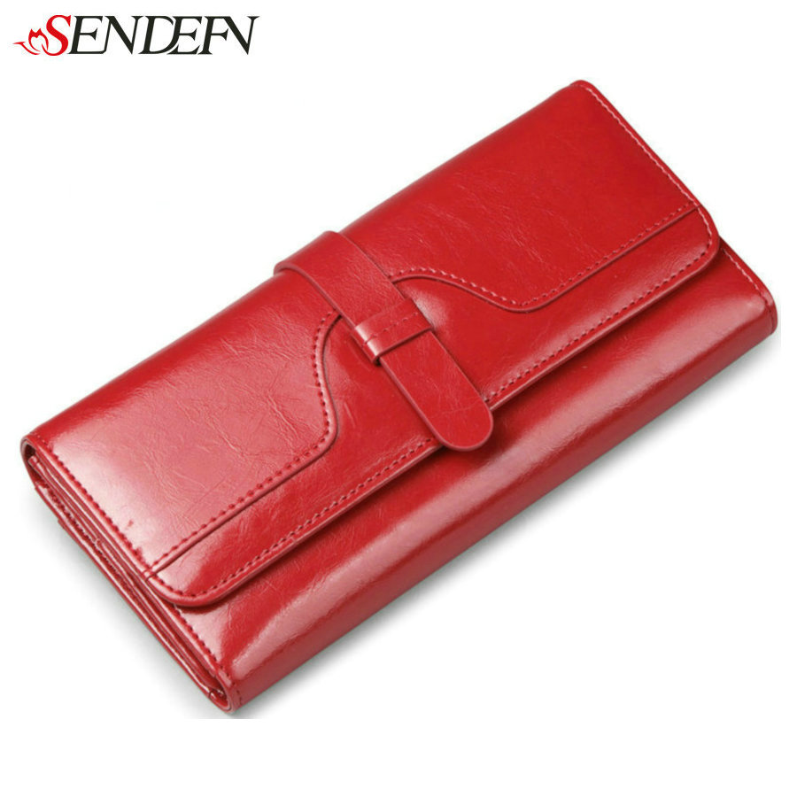 SENDEFN Quality Cow Leather Women Wallets Clutch Money Credit Card Holders Long Luxury Split Leather Wallet Female Phone Purse радиотелефон panasonic kx tgf310rum серый