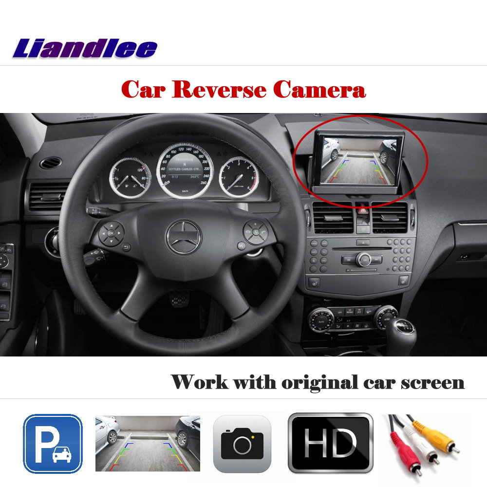 Liandlee For Mercedes Benz C180 C200 C280 C300 C350 C63 / Auto Back Up Camera Rearview Parking Cam Work with Car Factory Screen-in Vehicle Camera from Automobiles & Motorcycles    1