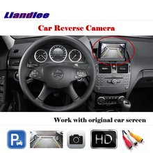 Liandlee For Mercedes Benz C180 C200 C280 C300 C350 C63 / Auto Back Up Camera Rearview Parking Cam Work with Car Factory Screen