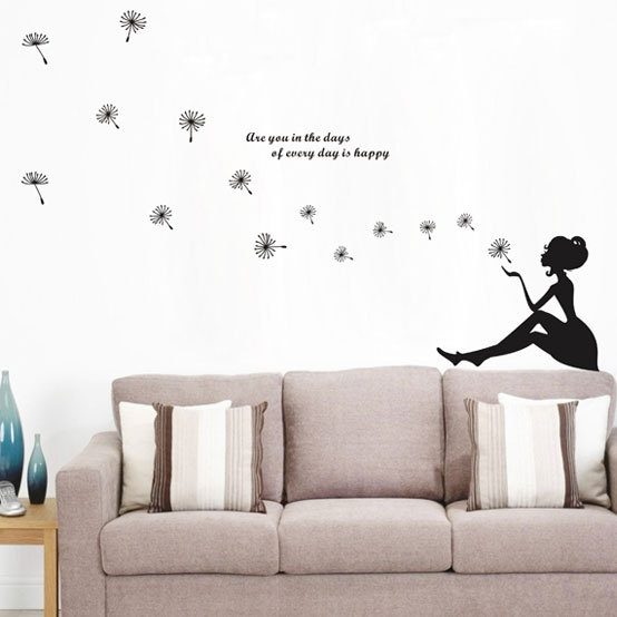 Wonderful BH 23 Modern DIY Remobalbe Dandelion Wall Sticker For Tile Metal Wooden  Smooth Surface Of Adult Or Kids BedRoom And Living Room In Wall Stickers  From Home ... Part 11