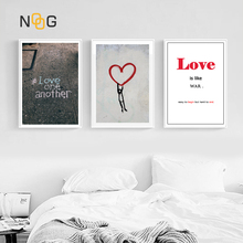 NOOG Nordic Canvas Painting Modern Prints Street Graffiti Art Posters Love Wall Pictures Living Room Unframed Poster