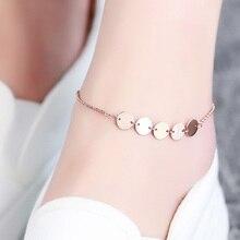 Top Quality 18KGP Titanium Steel Medallion Anklet Fashion Brand Women's Jewelry (GA072)
