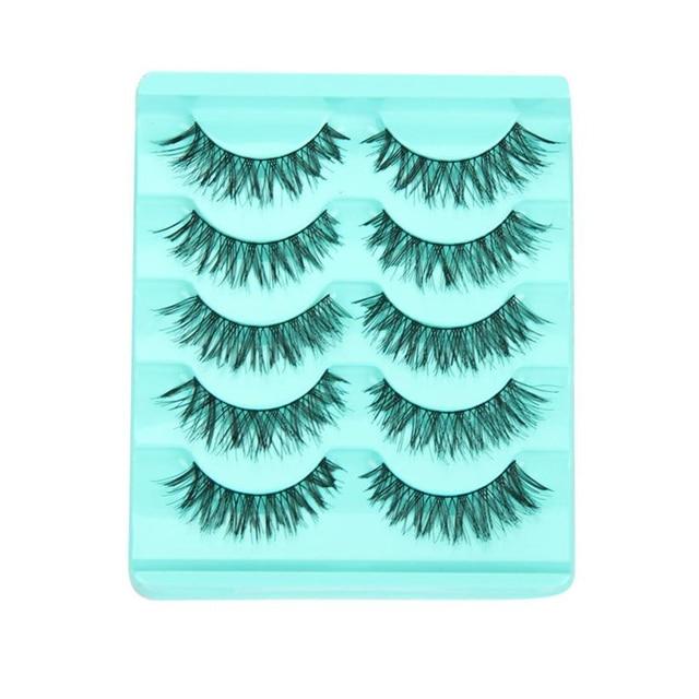 1 caja de 5 pares de pestañas postizas de maquillaje pestañas postizas voluminosas pestañas de ojos calientes maquiagem maquillaje