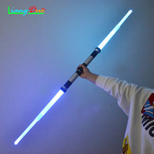 ФОТО 2 pcs / pieces star wars flashing sword cosplay about lightsaber horse for children luminescent toys discoloration flash pattern