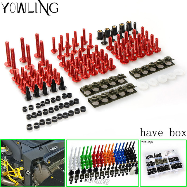 Universal Motorcycle Accessories Fairing Bolts Kit Body Fastener Clips Screws FOR Ducati Superbike 1199 Panigale S Tricolore