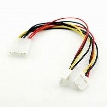 1 шт. 4 контактный разъем Molex на двойной 4 контактный дисковый распределитель питания для ПК Соединительный кабель для дисковода FDD 20 см