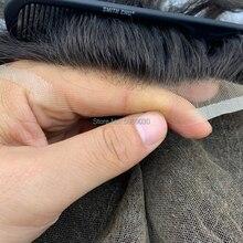 Mannen lace pruik volledige zwitserse kant man pruik menselijk haar gebleekte knoop gratis verzending