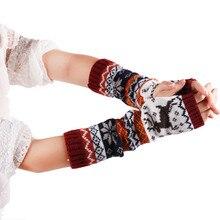 CharmDemon 2016 New Arrival Women Fingerless Knitted Gloves Arm Warmer Winter Gloves at16
