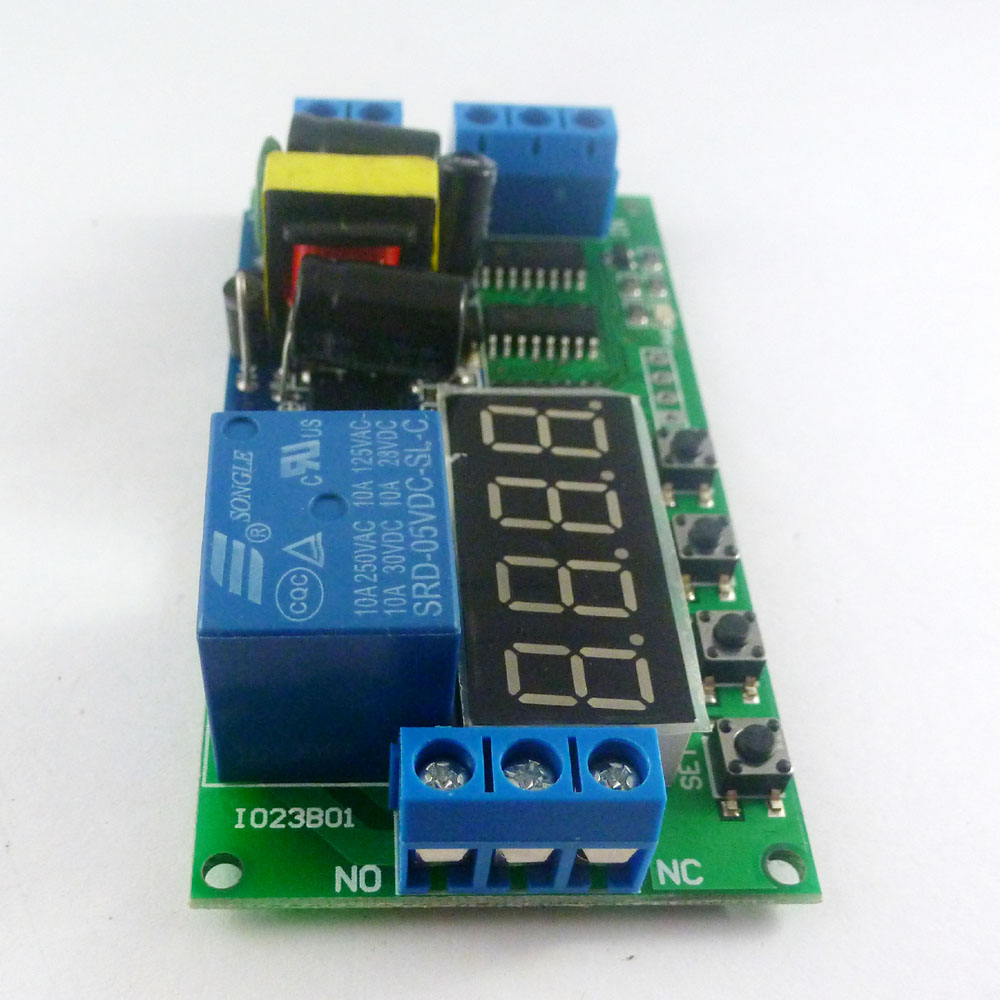 Io23b01 Ac 110v 220v Multifunction Self Lock Relay Plc Cycle Timer Light Dimmer Circuit With Active Reset Module Delay Time Switch In Integrated Circuits From Electronic Components Supplies On