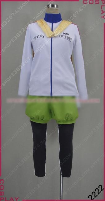PRINCE OF STRIDE Hozumi Kohinata Cosplay Costume Halloween Uniform Shirt+Pants+Scarf+Bag Custom made