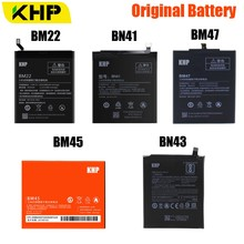 KHP BM45 BM47 BN43 BM22 BN41 Battery For Xiaomi Redmi 3 3S 3X 4 Note 2 Note 4 Note 4X Original Battery For Xiaomi MI 5 Batteries цена