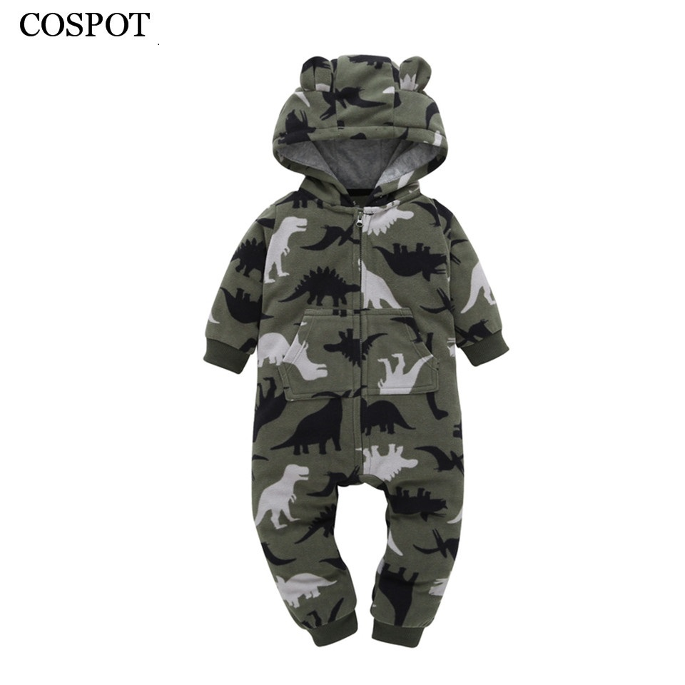 COSPOT 2018 New Newborn Romper Baby Boys Girls Spring Jumpsuit Warm Thick Hooded Romper for Newborn Infants Cotton Rompers 30C baby hoodies newborn rompers boys clothes for autumn hooded romper cotton jumpsuit child kids costumes girls clothing