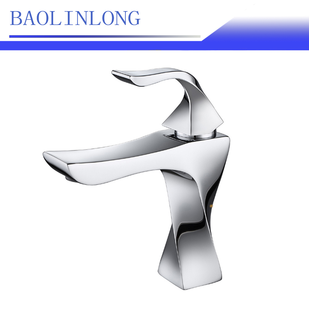 BAOLINLONG News Styling Basin Brass Deck Mount Bathroom Faucets Tap Vanity Vessel Sinks Mixer Faucet