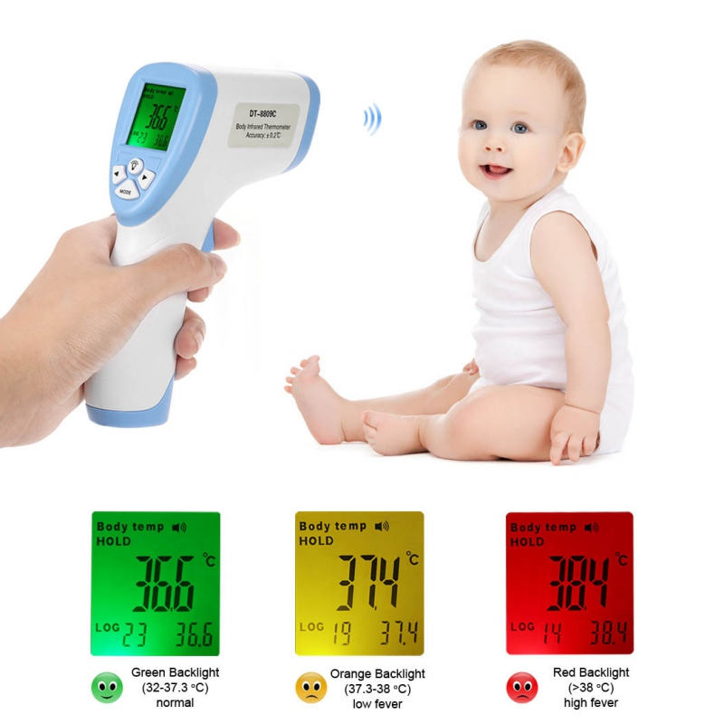 Digital Thermometer Infrared Baby Adult Forehead Non-contact Infrared Thermometer With LCD Backlight infrared thermometer price with respond time least 150ms
