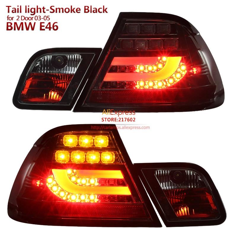 2003 2005 for BMW 2 Door 3 Series E46 320i 328i 325i LED Tail lights Assembly SONAR brand Top Quality Smoke Black Housing