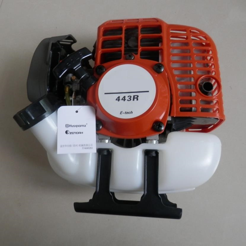 443R GASOLINE ENGINE FOR POWERED BY 43CC 2 CYCLE MOTOR PETROL BRUSHCUTTER TRIMMER SPRAYER WIPPER dla116 inline cnc processed inline gasoline engine petrol engine 116cc for gas airplanes with double cylinders
