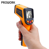 Non Contact Laser IR Infrared Thermometer With LCD Digital Display C F Selection Temperature Meter Tester