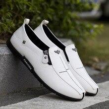 Summer new England peas shoes mens fashion urban business casual non-slip handmade