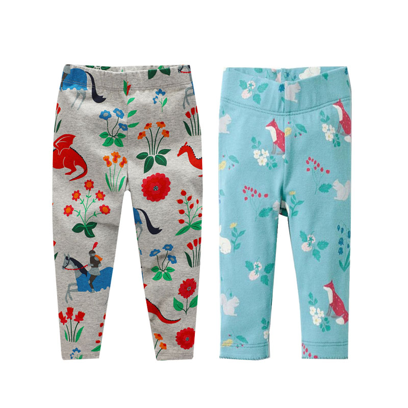 Retail or Wholesale Kids Leggings Print Pants Baby Girl Pants Long Trousers Girls clothing Children's Leggings for Girls