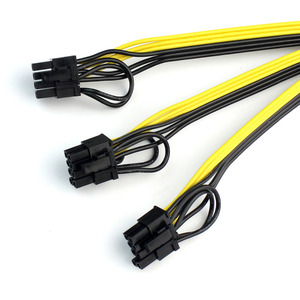 Image 3 - 5pcs Power Video Card Cable Mine Machine Adapter Cable 3x (6 +2) Pin Line, The Main Line 12AWG + Sub Line 18AWG Mining Wire