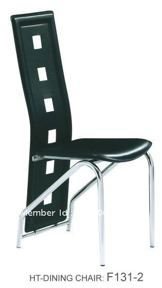 Dining Chair, Leather Chair, Chrome Leg Chair