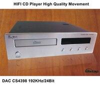 HI FI CD плеер с ЦАП CS4398 192 кГц/24Bit Высокое качество Движение обновления версии черный или лозы Панель 220 В аудио