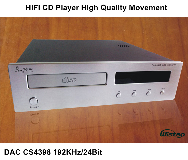 HIFI CD Player with DAC CS4398 192Khz / 24Bit High Quality Movement Upgrade Version Black or Withe Panel 220V Audio shanling cd3 2 hifi cd player vacuum tube cd player pc hifi usb dac 24bit 384khz dsd dac vacuum tube sacd player 110v 220v