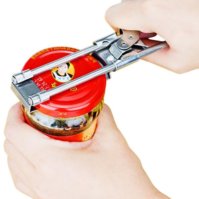 NORBI кухонная посуда из нержавеющей стали регулируемая многофункциональная открывалка боковая резка ручной открывалка для банок и бутылок кухонные принадлежности