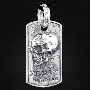Vintage jewelry wholesale 925 Sterling Silver Skull Pendant Silver in the men's brand new spot A0632