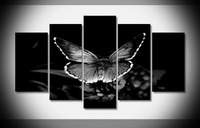 8382 Butterfly Insects Black And White Animal poster Framed Gallery wrap art print home wall decor wall picture Already to hung