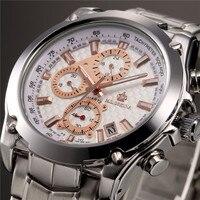 Мг. ORKINA большой циферблат мужской хронограф из нержавеющей стали кварцевые мужские часы лучший бренд класса люкс